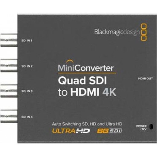 کانورتور بلک مجیک Blackmagic Design Mini Converter Quad SDI to HDMI 4K